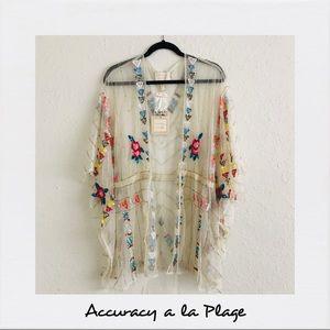 Accuracy a la Plage Sheer Beaded Kimono